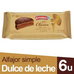 Alfajor Chocolate Terrabusi x 6 un. 300 g.