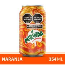 Gaseosa Mirinda Naranja Lata x 354 cc.