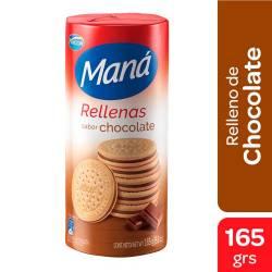 Galletitas Rellenas Maná Chocolate x 165 g.