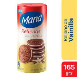 Galletitas Chocolate Maná Rellenas de Vainilla x 165 g.