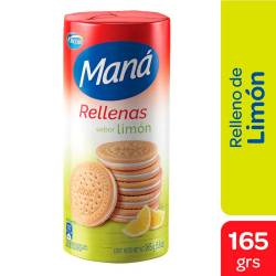Galletitas Rellenas Maná Limón x 165 g.