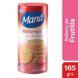 Galletitas Rellenas Maná Frutilla x 165 g.