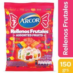 Caramelos Rellenos Arcor Frutal x 150 g.
