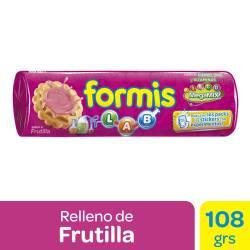 Galletitas Vainilla Formis Rellenas con Frutilla x 108 g.