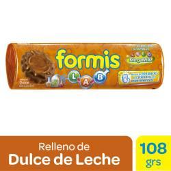 Galletitas Chocolate Formis Rellenas con Dulce de Leche x 108 g.