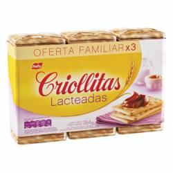 Galletitas Crackers Lacteadas Criollitas x 354 g.