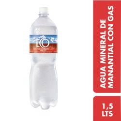 Agua Mineral con gas Eco de los Andes x 1,5 Lt.