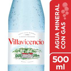 Agua Mineral con gas Villavicencio x 500 cc.
