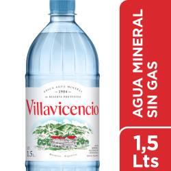 Agua Mineral sin gas Villavicencio x 1,5 Lt.