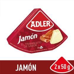 Queso Fundido Adler Jamón x 100 g.
