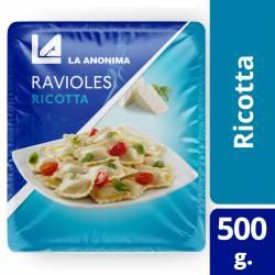 Ravioles de Ricotta La Anónima en Blister x 500 g.