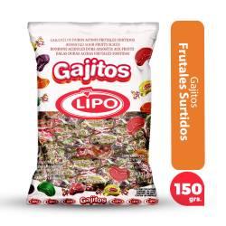 Caramelos Gajitos Ácidos Lipo x 150 g.