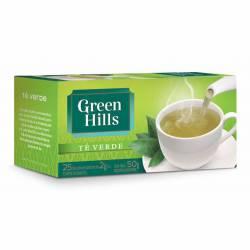 Té en Saquitos Verde Ensobrados Green Hills x 25 un.