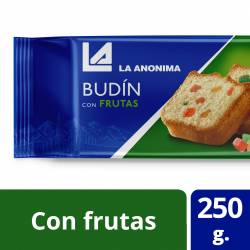 Budín de Vainilla con Frutas La Anónima x 250 g.