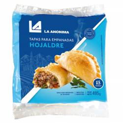 Tapas para Empanadas La Anónima Horno x 18 un. 495 g.