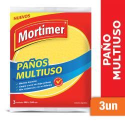Paño Multiuso Amarillo Mortimer x 3 un.