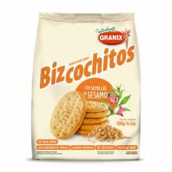 Bizcochos Granix con Semillas de Sésamo x 180 g.