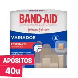 Apósitos transparentes Band-Aid Variados x 40 un.