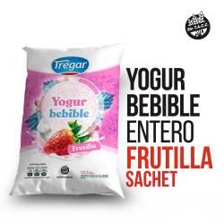 Yogur Entero Bebible Tregar Frutilla Sachet x 1 Kg.
