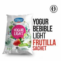 Yogur Descremado Bebible Tregar Frutilla Sachet x 900 g.