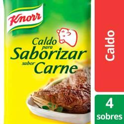 Caldo para Saborizar Knorr Carne x 4 sobres x 30 g.