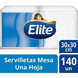 Servilletas Papel Elite 30cmx30cm x 140 un.