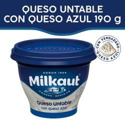 Queso Untable Milkaut con Queso Azul x 190 g.