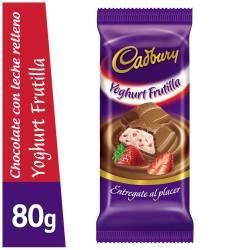 Chocolate Relleno con Yogur Cadbury Frutilla x 80 g.