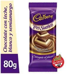 Chocolate Tres Sueños Cadbury x 80 g.