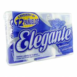 Pañuelos Papel Elegante Pack 6 packs x 12 un.