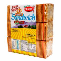 Galletitas Sandwich Granix x 3 un. 600 g.