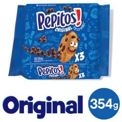 Galletitas con Chips de Chocolate Pepitos Tripack x 354 g.