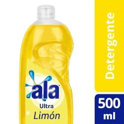 Detergente Líquido Ala Ultra Limón x 500 cc.