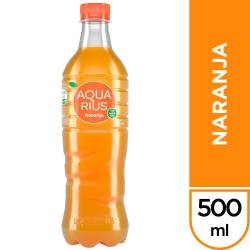Agua sin gas Aquarius Naranja x 500 cc.