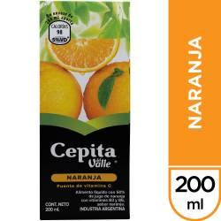 Jugo Natural Naranja Cepita x 200 cc.