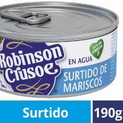 Surtido de Mariscos Robinson Crusoe Lata x 190 g.