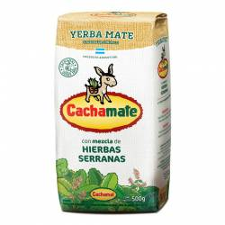Yerba Mate Compuesta Cachamate Hierbas Serranas x 500 g.