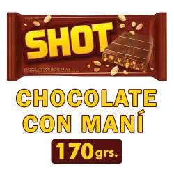 Chocolate con Leche y Maní Shot x 170 g.