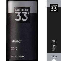 Vino Tinto Latitud 33 Merlot x 750 cc.