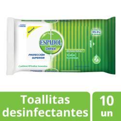 Toallitas Húmedas Antibacteriales para Manos Espadol Dettol x 10 un.