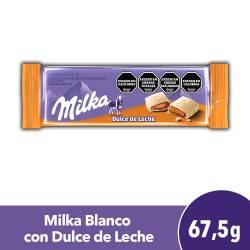Chocolate Blanco Milka Relleno con Dulce de Leche x 67 g.