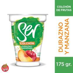 Yogur Descremado con Frutas Ser Durazno - Manzana x 175 g.