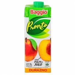 Jugo Natural Baggio Pronto Durazno x 1 Lt.