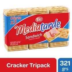 Galletitas Crackers Sandwich Media Tarde x 321 g.