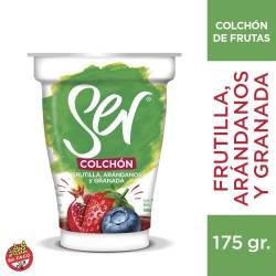 Yogur Descremado Ser con Frutas - Frutilla-Arándanos-Granada x 175 g.