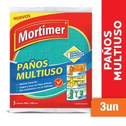 Paño Multiuso Colores Mortimer x 3 un.