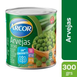 Arvejas secas remojadas Arcor x 300 g.