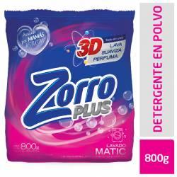 Jabón Polvo Baja Espuma Zorro Clásico x 800 g.