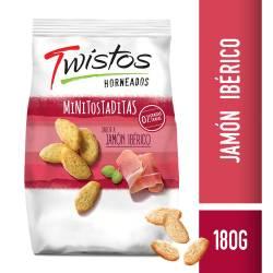 Mini Tostaditas Jamón Twistos x 180 g.