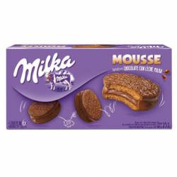 Alfajor Chocolate Milka Mousse x 6 un. 252 g.